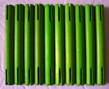 "Wooden Tinker Toys Part Lot: 10 Green Rods ~3"" Glow in Dark Set Tinkertoy Pieces"