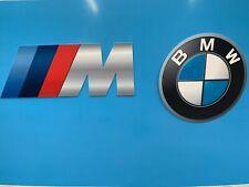 Lot de 2 Enseignes Plaques BMW Décoration Garage ( M MOTORSPORT + logo BMW )