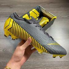 NIKE VAPOR 12 ELITE FG FOOTBALL BOOTS GREY/YELLOW SIZE UK10.5 US11.5 EUR45.5