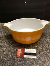 Vintage PYREX 2.5 L Bowl # 475-B  BUTTERFLY CINDERELLA Gold No Lid.