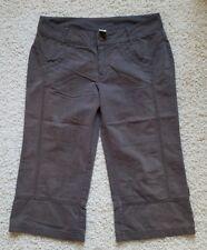 "Women's prAna Hiking Outdoor Cropped Pants Size 6 Waist 32"" Organic Cotton Blend"