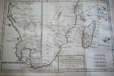 CARTE ANCIENNE MADAGASCAR MOZAMBIQUE BONNE ESPERANCE MELINDE 1788 (R1203) MAP