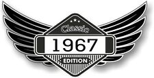 Winged Emblem Year Dated 1967 CLASSIC EDITION Crest Cafe Racer Biker Car Sticker