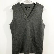 Sarah Spencer Merino wool gray vest size L