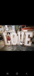 Giant Love Letters. Wedding 4ft love sign *** FOR SALE ***