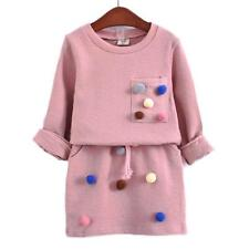 Baby Girl Dress Girl Outfit Cotton Long Sleeve Dress 3T 4T 5 6 7 Toddler Kids