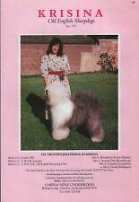 "OLD ENGLISH SHEEPDOG BREED KENNEL ADVERT PRINT PAGE ""KRISINA"" DOG WORLD 1989"