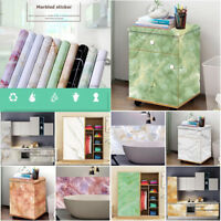 3D Marble Waterproof PVC Self Adhesive Art Wall Stickers Kitchen Floor Decal