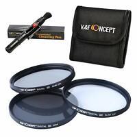 K&F Concept 67mm UV CPL ND4 Polarizing Lens Filter Kit for Canon Nikon Sony