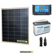 Kit placa solar fotovoltaico 150W 12V Batería 100Ah AGM Regulador de carga PWM 1