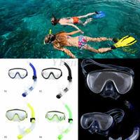 Unisex Adult Swimming Scuba Dive Diving Goggles PVC Mask and Snorkel Set SA.