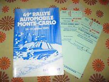 Ancien REGLEMENT 49e RALLYE AUTOMOBILE DE MONTE-CARLO 1981 ACM Groupe B Rally 81
