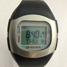 ULTRA RARE VINTAGE DIGIVA ATOMIC RADIO CONTROLLED WATCH - RUNNING PERFECTLY!