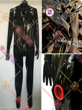 734 LATEX CATSUIT WITH GLOVES SOCKS ZIP HIDDEN TWO CONDOM CUSTOM MADE