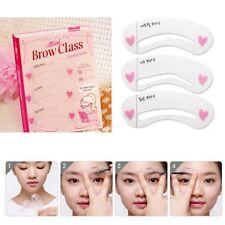 3er SET Augenbrauen Hilfe Schablonen Eye Brow Shaping Makeup Kosmetik Kit