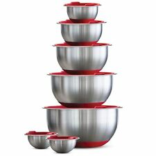 TRAMONTINA 14 Piece Covered Stainless Steel Mixing Bowl Set 3 COLOR CHOICES NEW