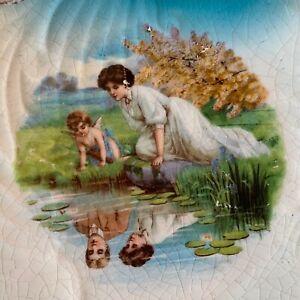 RARE Vintage LOST LOVE REFLECTION POND Collectible Souvenir Plate AFTON MINN
