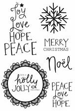 Kaisercraft - Holly Jolly - 6 clear cling Christmas stamps