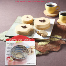 5pcs Round Circle Stainless Steel Cookie Cutter Set Biscuit Cookies Pastry Mold