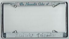 The Honorable Order Of Kentucky Colonels Vintage California License Plate Frame