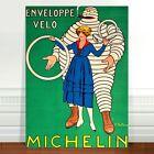 "Vintage Auto Advertising Poster Art ~ CANVAS PRINT 8x10"" Michelin Tyres"