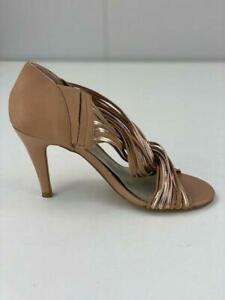 Basque Womens Khloe Brown Leather Strappy Kitten Heels Open Toe Size AU 6 EU 37