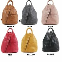 New Ladies Women Faux Leather Soft Travel Backpack Girls College School Rucksack