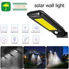 100 Lampe Solaire LED avec Détecteur de Mouvement Extérieur Projecteur Jardin