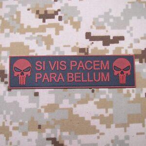 SI VIS PACEM PARA BELLUM PATCH Morale of tactical military 3D PVC Patch