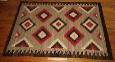 """Vintage Early American Indian Navajo Large Ganado Eye Dazzler Rug Blanket 71""""x48"""