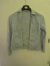 White & Blue Stripe Wallis Stretch Shirt / Top in Size 10
