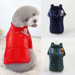 Dog Vest Pets Thickened Jacket Puppy sleeveless Jumpsuit Winter Warm Padded Coat