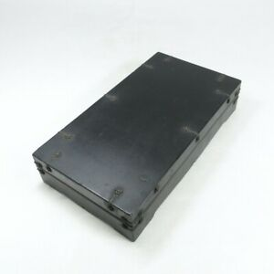 D1922: Japanese old lacquer ware ink stone case with good metallic ornaments