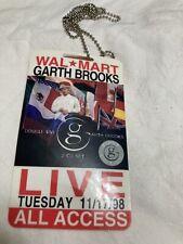 Original Garth Brooks ALL ACCESS STAFF Concert Pass