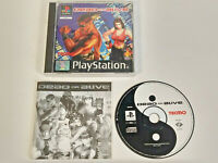 Dead Or Alive PS1 PlayStation 1 PAL Game Complete Black Label Tecmo Fighter