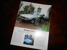 NOS BMW OEM 1983 R100 RT 633CSi 6 Series Brochure Six Wheel Weekend
