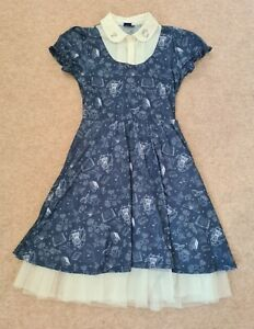 Disney Beauty & The Beast Dress Belle Cosplay Blue EMP Hot Topic Limited Edition