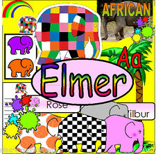 ELMER'S COLOURS Elmer the Elephant Story Teaching resources KS1 SACK Resource CD