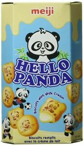 Meiji Hello Panda Biscuits with Milk Flavoured Filling 50g