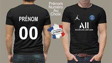 t-shirt personnalisé prénom et numéro au choix paris maillot foot psg   P105