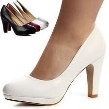 Zapatos Mujer de Plataforma con Tacón Básicos Tacones Altos Boda Elegante Moda
