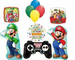 Super Mario Bro Party Supplies Video Game Birthday Balloon Bouquet Decorations