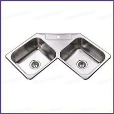 Corner Stainless Steel Kitchen Sink Double Bowl 1100*600*180 mm