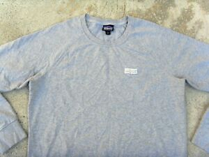 PATAGONIA Organic Cotton Sweatshirt pullover Men's Sz L Gray