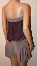 VICKY MARTIN nude beige brown strapless loose top playsuit BNWT 10 12 RRP £145