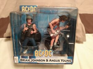 AC/DC Angus Young & Brian Johnson Action Figure 2-Pack Set NECA