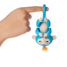 Original Finger Baby Monkey Blue - Kids Electronic Interactive Finger Pet Toy f
