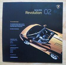 LAMBORGHINI UK Market brochure 2006 - Gallardo Coupe & Spyder Miura Concept