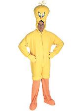 Adult STD Licensed Looney Tunes Tweety Pie Fancy Dress Costume Mens Gents