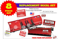 Western Snow Plow Contractor Grade Decal Replacement 8 Pc. Kit for 8-9-10FT WKC8